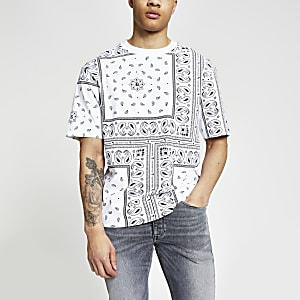 Maison Riviera - Wit box-fit bandana T-shirt