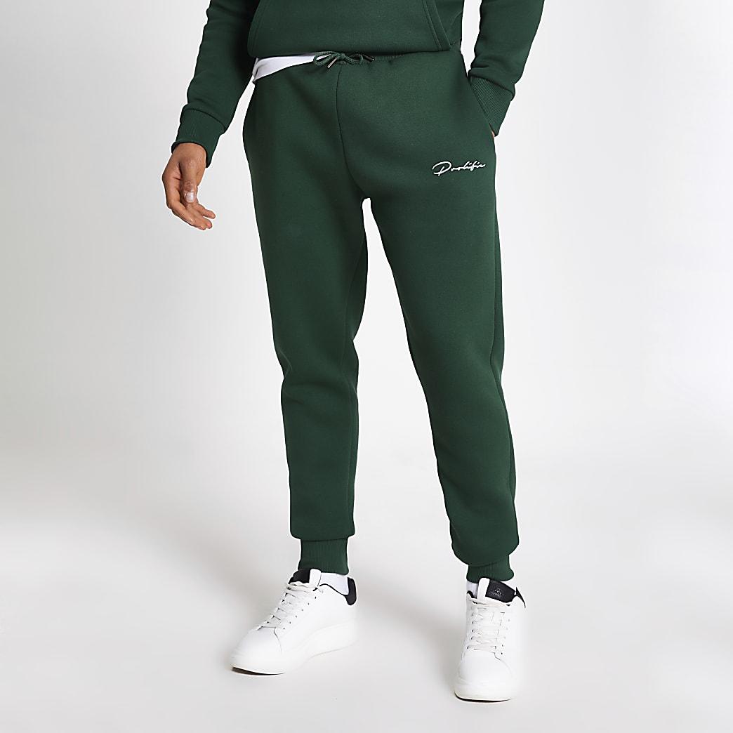 Prolific dark green slim fit joggers