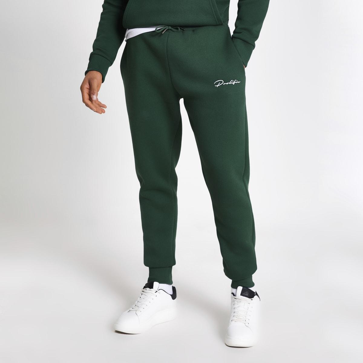 Prolific – Pantalons de jogging slim vert foncé