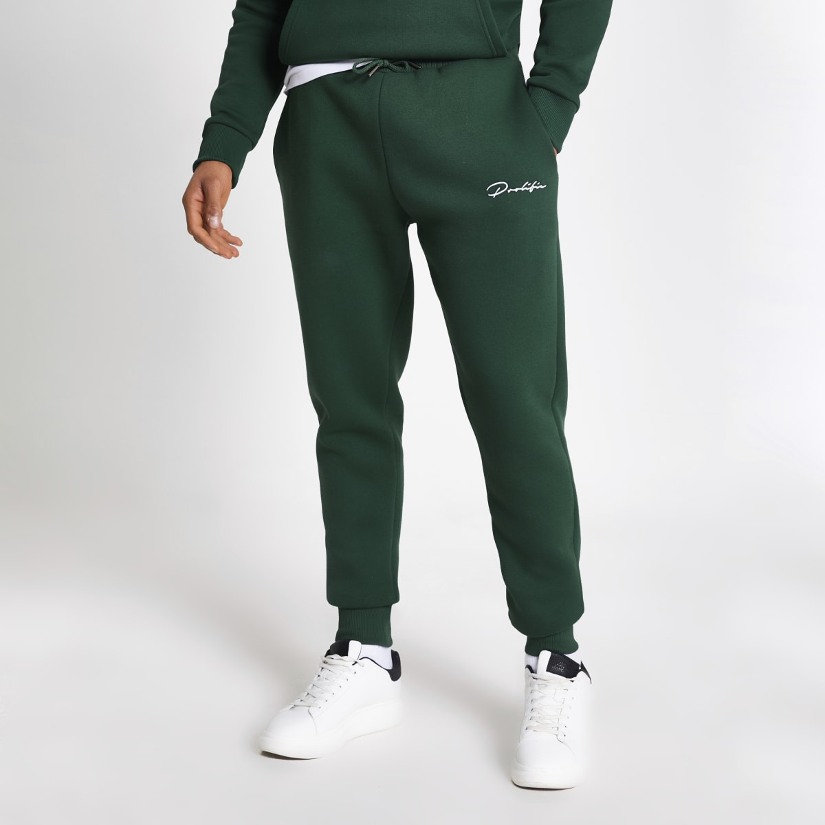 Prolific - Donkergroene slim-fit joggingbroek