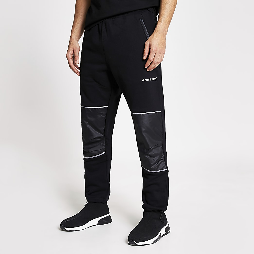 Arcminute black relaxed fit joggers