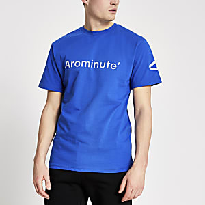 Arcminute- Blauw T-shirt met logoprint