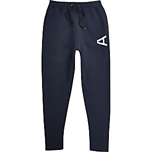 Arcminute - Marineblauwe slim-fit joggingbroek