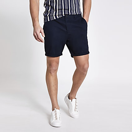 Navy Dylan slim fit shorts