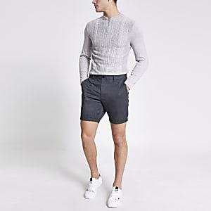 Donkergrijze slim-fit Dylan shorts