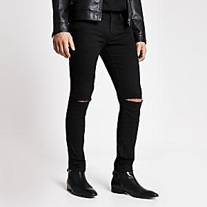 Sid – Schwarze Skinny Jeans im Used-Look