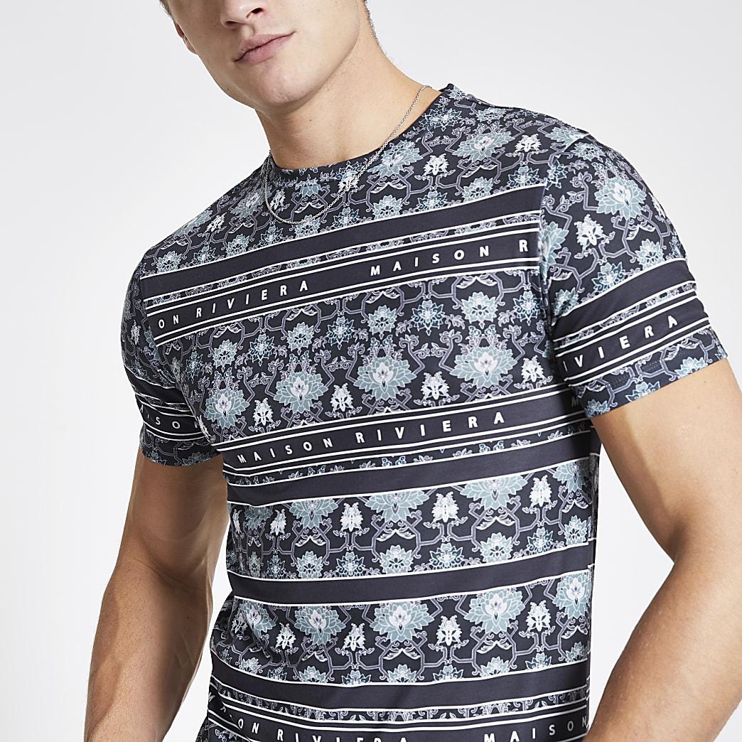 Maison Riviera – T-shirtajusté bleu marine