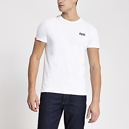 Superdry white Orange Label T-shirt