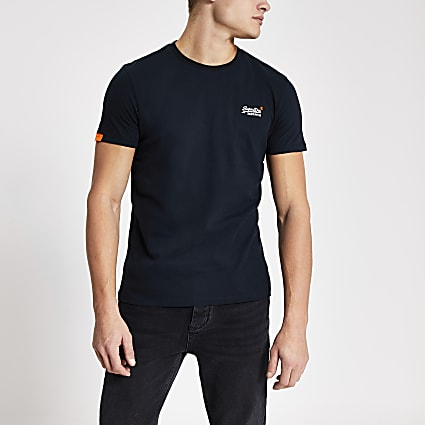 Superdry navy Orange Label T-shirt