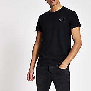 Superdry - Marineblauw T-shirt met korte mouwen