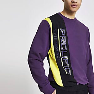 Prolific – Sweat en nylon violet colour block