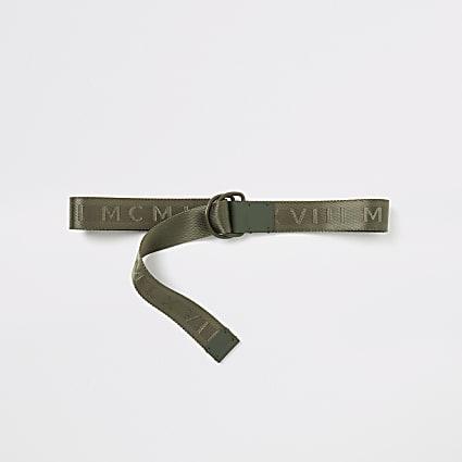 MCMLX khaki webbing D-ring belt