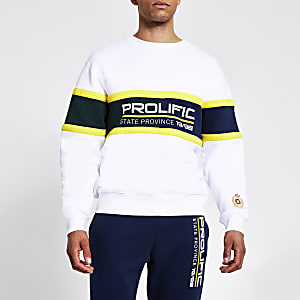 Prolific – Sweat blanc colour block
