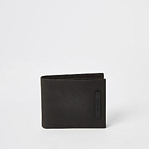 Bruine leren uitvouwbare portemonnee