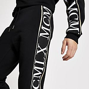 MCMLX - Pantalon de jogging slim noir avec bande latérale