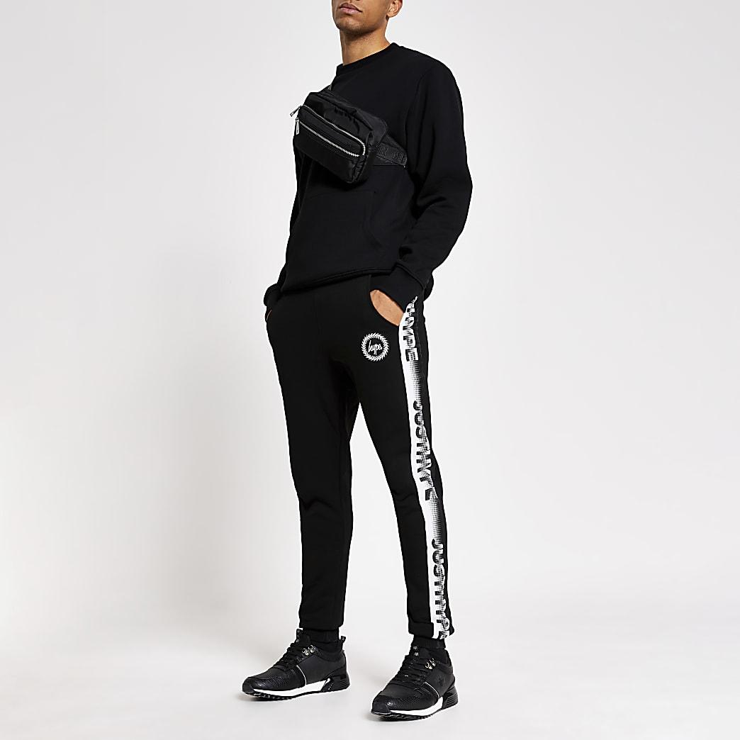 Hype - Zwarte joggingbroek met spikkelbies aan de zijkant