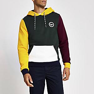 Hype - Groene hoodie met kleurvlakken