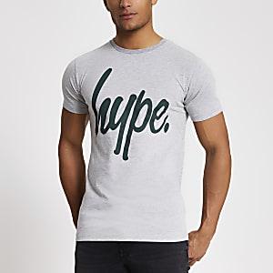 Hype - Grijs T-shirt met logoprint