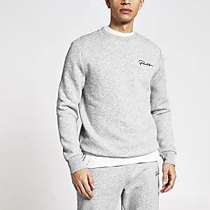 Prolific - Grijze slim-fit sweater