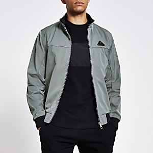 MCMLX light green nylon racer jacket