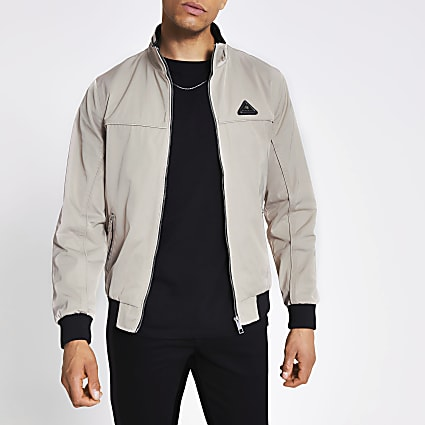 MCMLX light grey nylon racer jacket