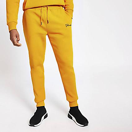 Prolific yellow slim fit joggers
