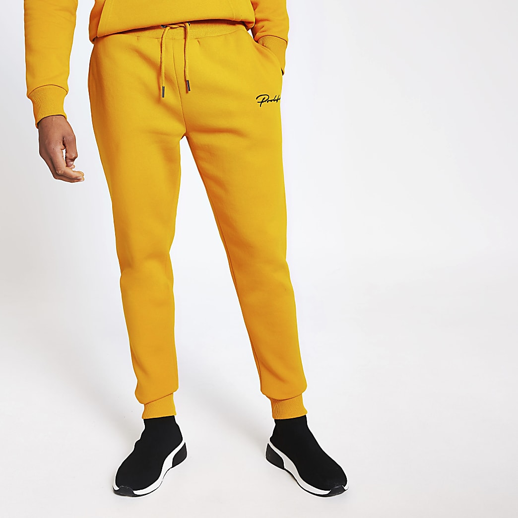 Prolific yellow slim fit joggers