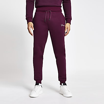 Prolific purple slim fit joggers