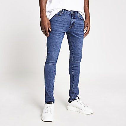 Blue Danny super skinny stretch jeans