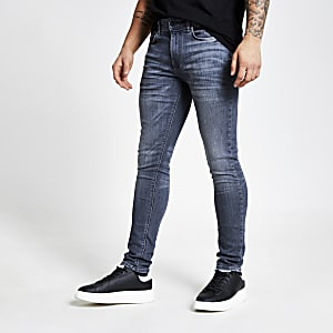 Grijze skinny-fit denim jeans