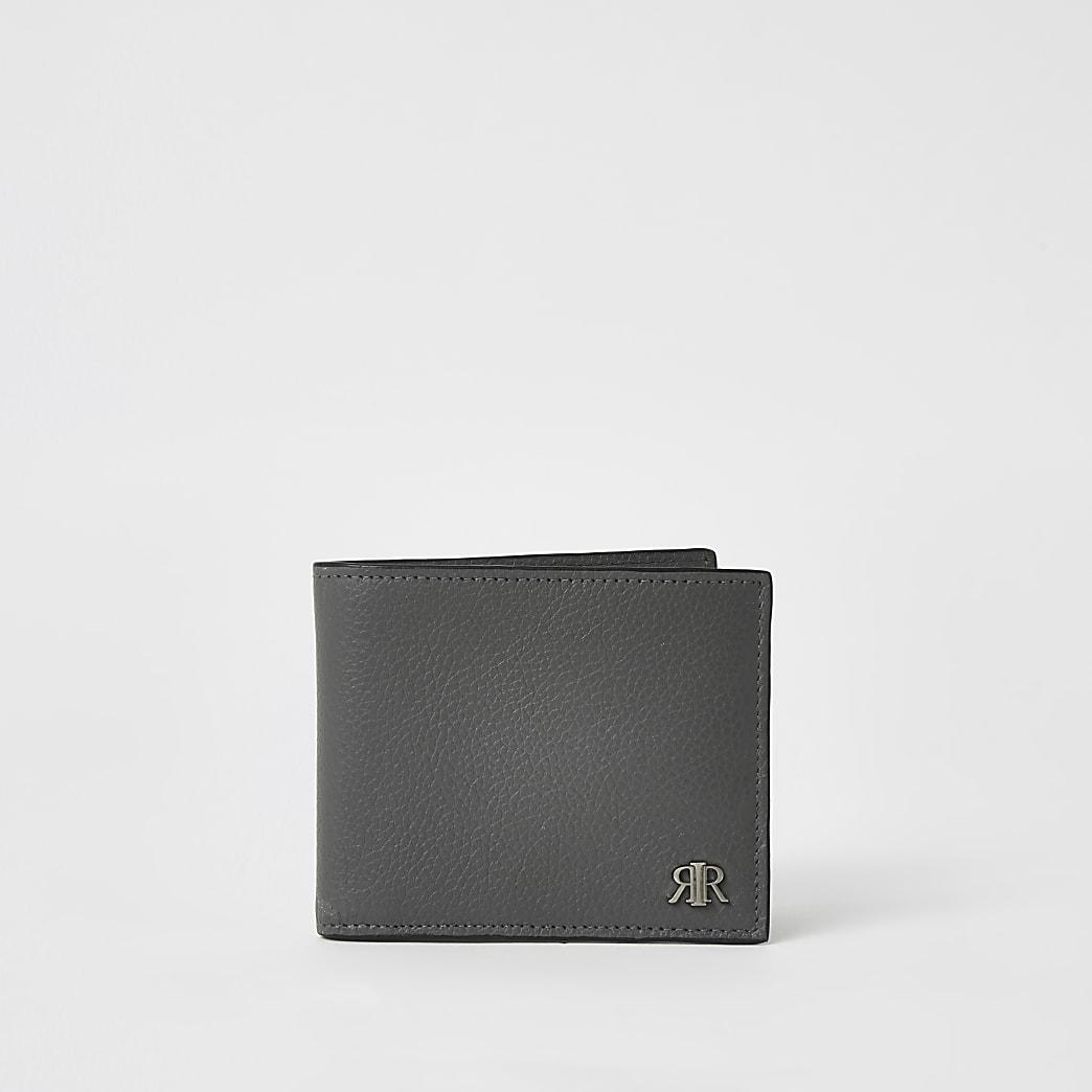 Grey leather RIR wallet