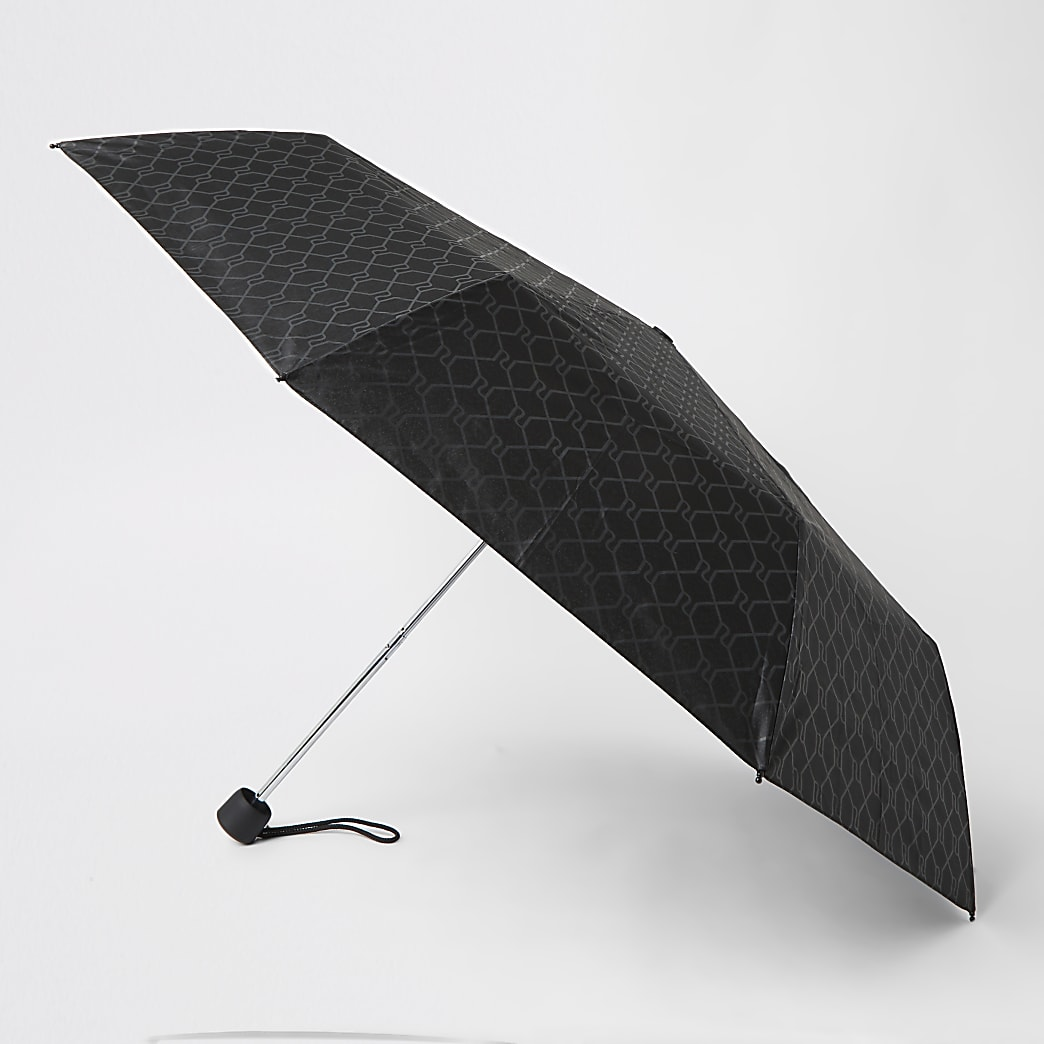 Black RI monogram umbrella