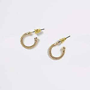Créoles à perles dorées