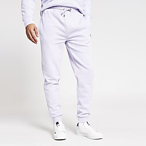 Maison Riviera - Paarse slim-fit joggingbroek