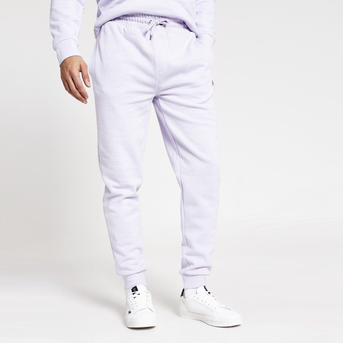 Maison Riviera purple slim fit joggers