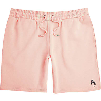 Masion Riviera coral slim fit shorts