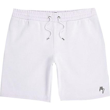 Masion Riviera purple slim fit shorts
