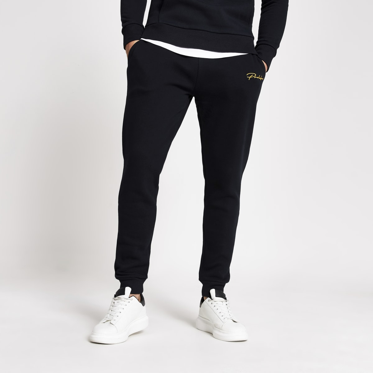 Prolific navy slim fit joggers