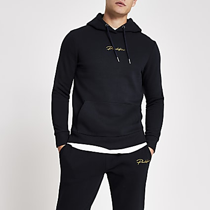 Prolific navy slim fit hoodie