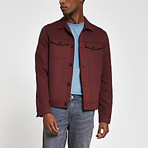 Schmal geschnittene Western-Jacke in Rostbraun