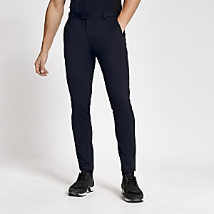 Marineblauwe superskinny-fit pantalon