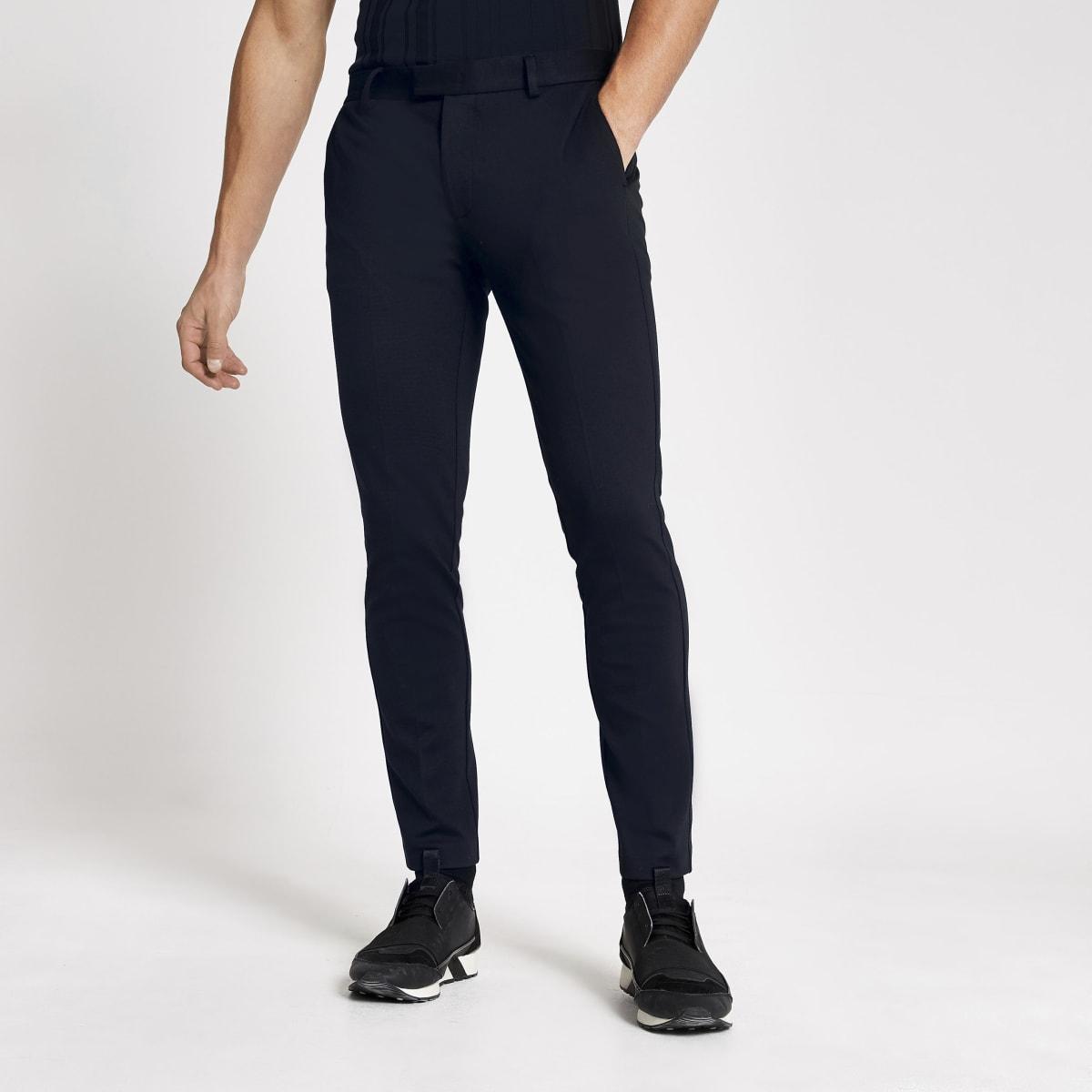 Marineblauwe superskinny-fit pantalon