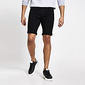 Schwarze Skinny Shorts