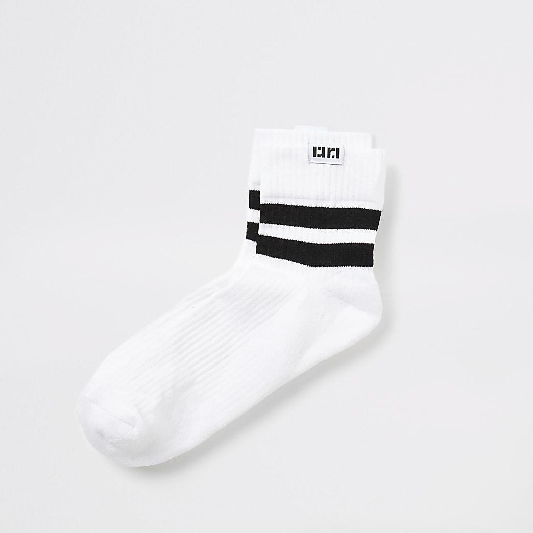White stripe tube socks