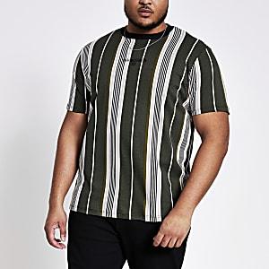 Big & Tall – Maison Riviera – T-Shirt in Khaki