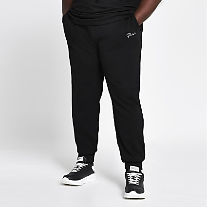 Big and Tall Prolific black slim fit joggers