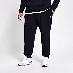 Big and Tall - Marineblauwe joggingbroek met 'Maison Riviera'-print