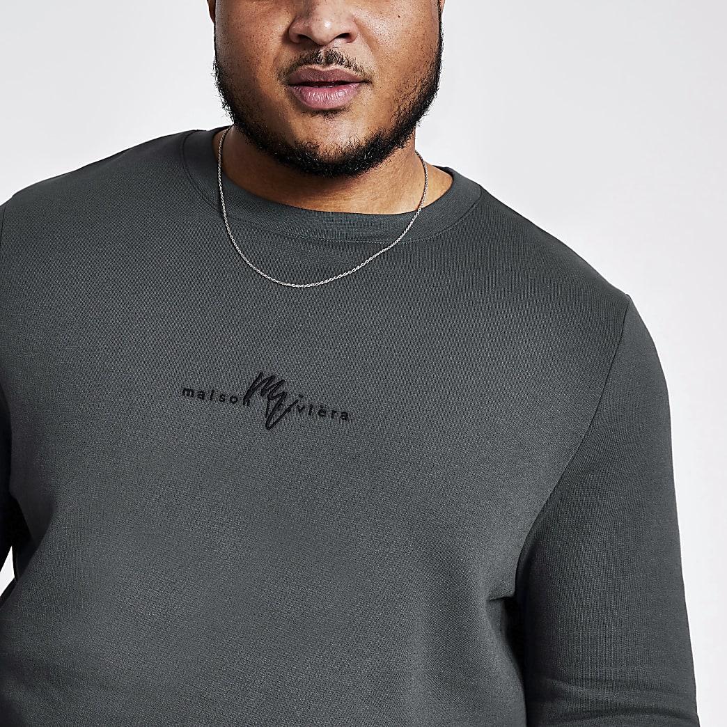 Big and Tall Maison Riviera grey sweatshirt