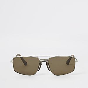 Braune Navigator-Sonnenbrille