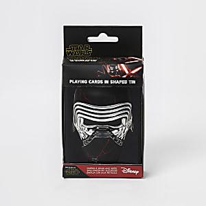 Ensemble avec boîte et cartes de jeu Star Wars